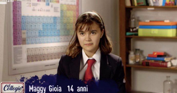 """Il Collegio, la 14enne Maggy Gioia insultata sui social. Lei: """"Quello che scrivono di cattivo su di me non mi tocca"""""""